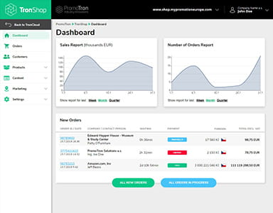 TronShop Administration Dashboard